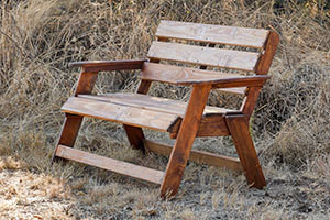 Wooden Sunset Bench L1200mm x W650mm