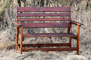 Wooden Phola Two Seater  Bench L1200mm x W650mm
