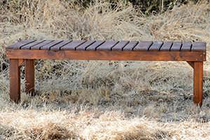 Wooden Phumula Three Seater Bench L1500mm x W650mm