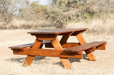 Wooden Picnic Four Seater Bench L1800mm x W650mm