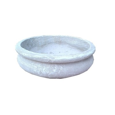Bonsai Planter Round Whitewash Finish - L300mm x W300mm - 7kg