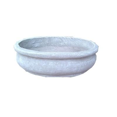 Bonsai Planter Oval Whitewash Finish - L400mm - 6kg