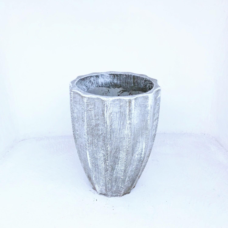 Jackie Pot Medium Whitewash Finish - H530mm x W400mm - 15kg