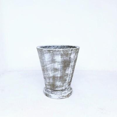 Edden Pot Medium Whitewash Finish - H360mm x W320mm - 9kg