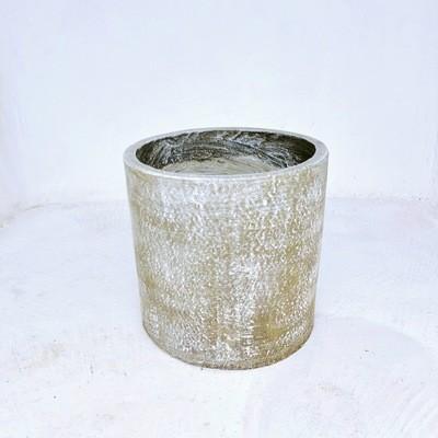 Cylinder Pot Large Whitewash - H350mm x W370mm - 12kg
