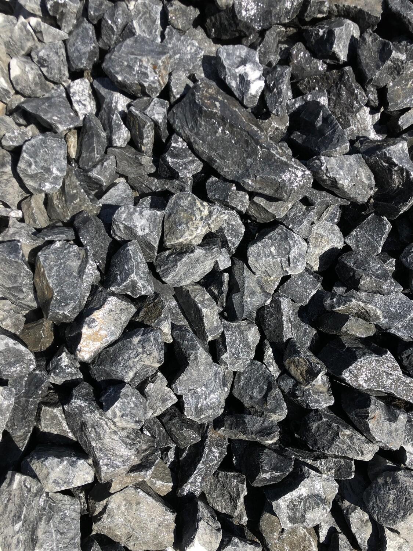 BULK Black Mini Dump Rock Ballast Selected 90-100mm 50 bags  R25 per bag