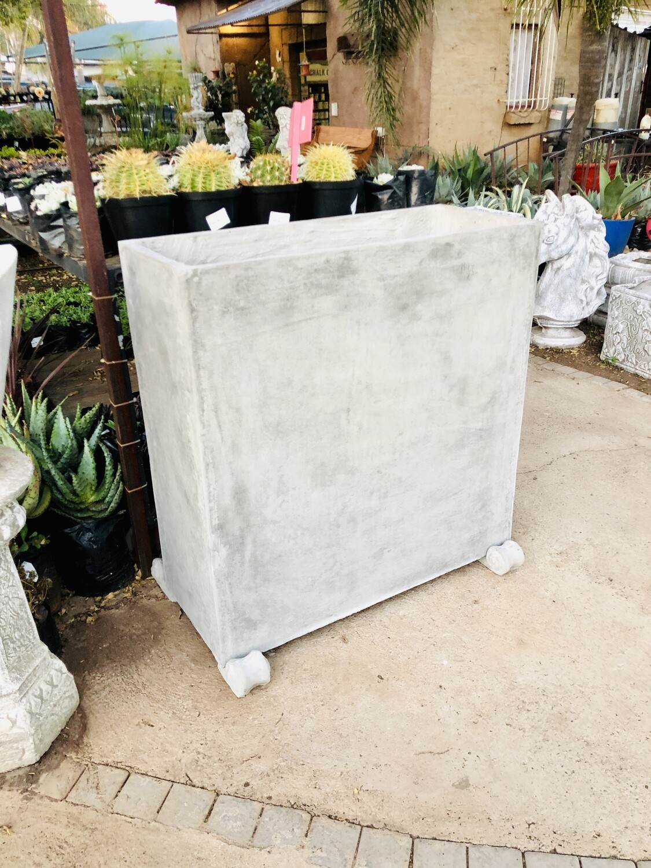 Ondela Rectangular XL Pot Raw Cement Concrete - L1000mm x H1000mm x W405mm - 123kg