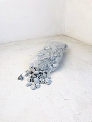 Zebra Dolomite Pebbles Medium 30-50mm 300 x 600mm bags between 18 and 20kg