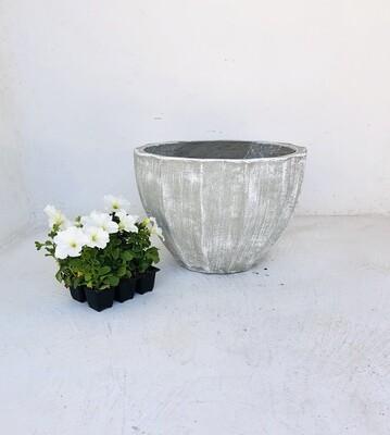Godiva Pot Large Whitewash Finish - H420mm x W550mm - 17kg