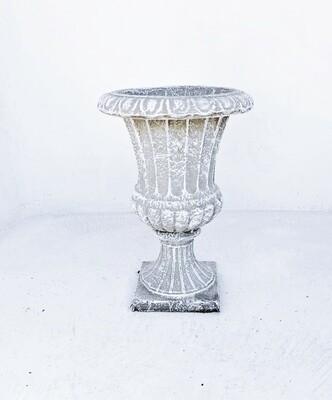 French Ivory Vase Whitewash Finish - H500mm x W350mm - 13kg