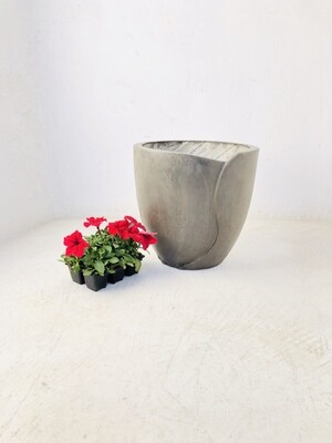 Leaf Pot Large Weathered Finish - H360mm x W360mm - 12kg