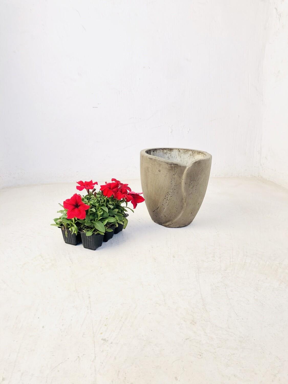 Leaf Pot Small Weathered Finish - H230mm x W240mm - 5kg