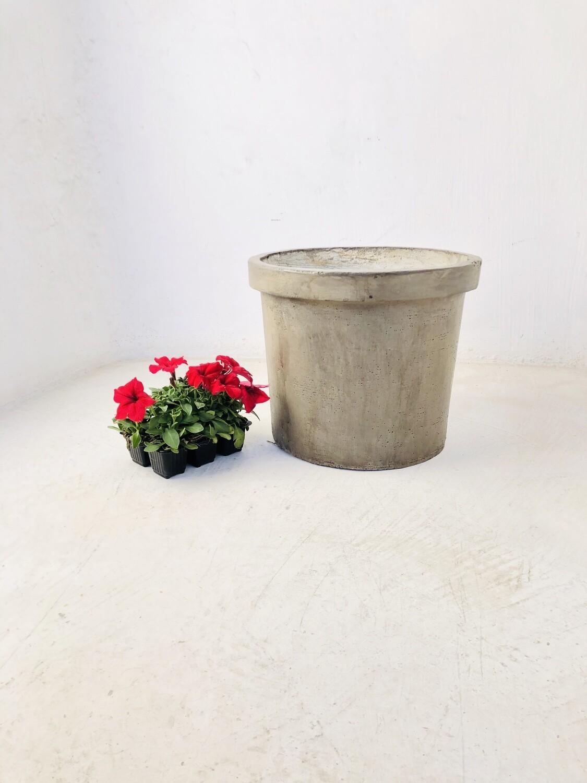 Concrete Planter Pot Large Weathered Finish - H330mm x W390mm -13kg