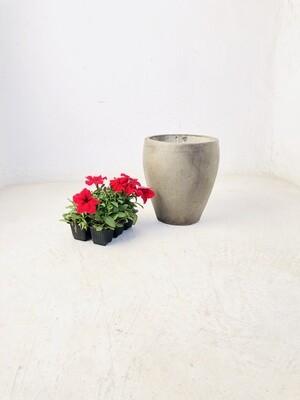 Elegant Small Weathered Grey Finish - H270 x W230mm - 7kg