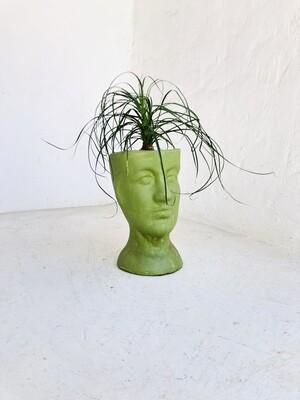 Half Head Planter Large Green Finish H300mm x W170mm - 3kg