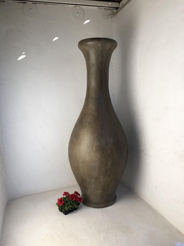 Gracelle Vase Large Weathered Grey Finish - H1620mm x W600mm - 65kg