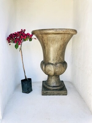 Joshua Urn Large Weathered Brown Finish - H1207mm x W870mm - 145kg
