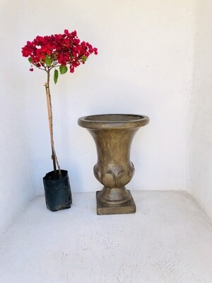 Joshua Urn Small Weathered Brown Finish - H700mm x W Top 520mm x W Base 280mm - 25kg