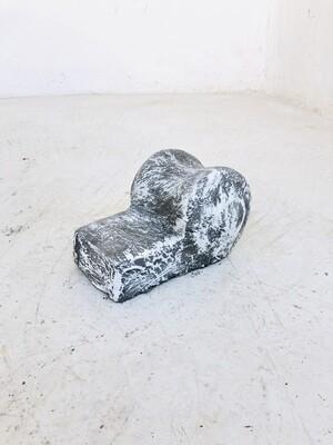 Scroll Pot Feet Whitewash Finish - L150mm x  W110mm -  1.4kg