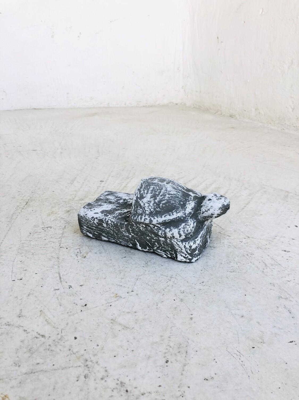 Turtle Pot Feet Whitewash Finish - L140mm x W70mm - 0.6kg