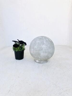 Fountain Ball Small Whitewash Finish - H330mm x W300mm - 7kg - Hollow Lightweight