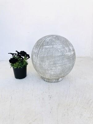Fountain Ball Medium Whitewash Finish - H420mm x W380mm - 13kg - Hollow Lightweight
