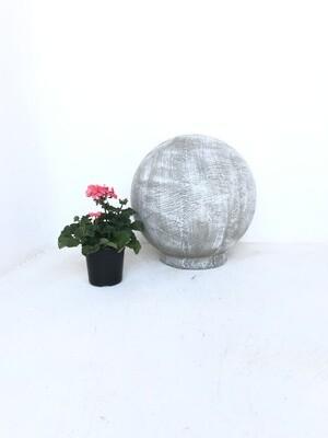 Fountain Ball Large Whitewash Finish - H500mm x W480mm - 20kg - Hollow Lightweight