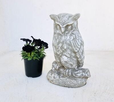 Owl Whitewash Finish - H420mm - 19kg