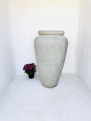 Ansie Vase Plain Cement Finish - H980mm x W600mm - 45kg