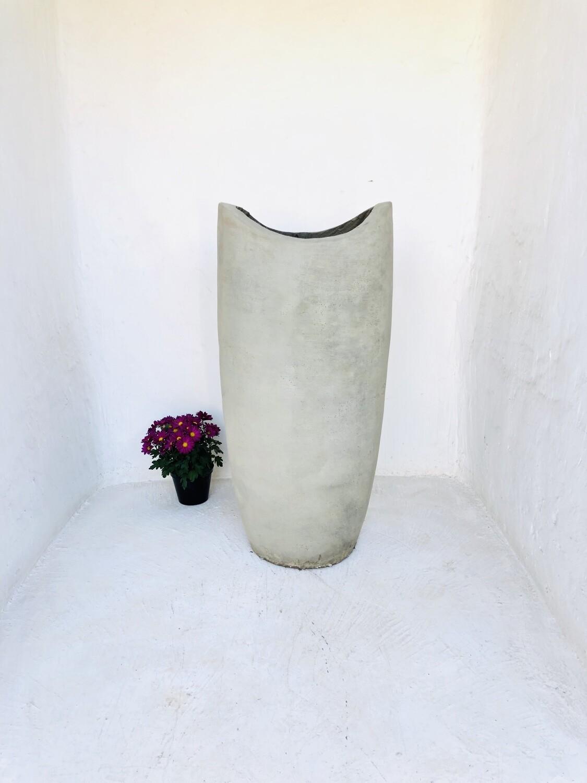 Zip Vase X-Large Plain Cement Finish - H1000mm x W450mm - 50kg