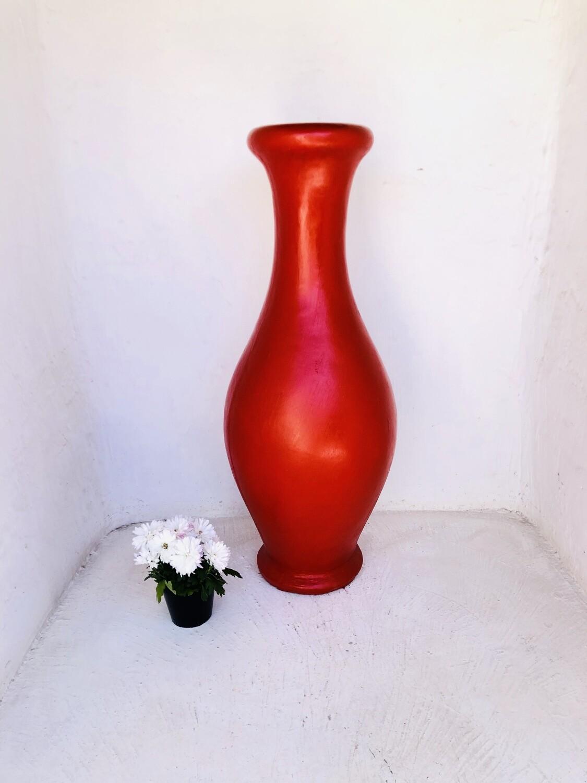 Gracelle Vase Medium Red Finish - H1180mm x W400mm - 30kg