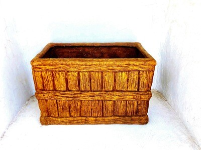Large Crate Planter Honeyclay Finish - L850mm x W500mm x H540mm - 42kg