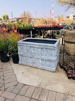 Large Crate Planter Whitewash Finish - L850mm x W500mm x H540mm - 42kg