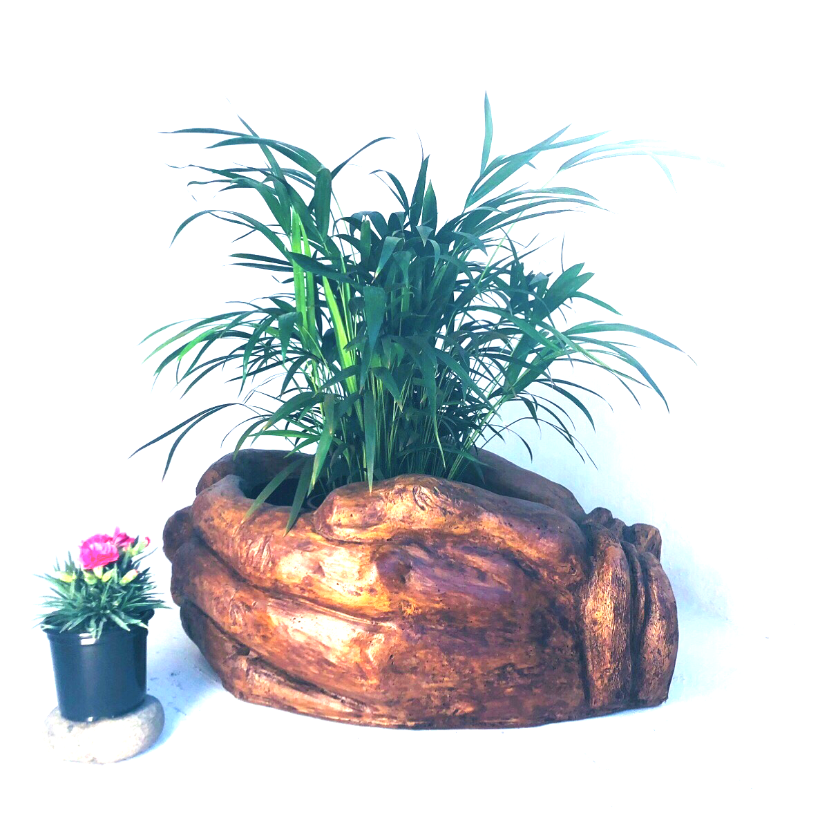 Drinking Hands Planter Honeyclay Finish - L730mm x W550mm x H170mm - 29kg