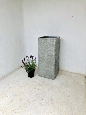 Braided Pillar Pot Extra Large Whitewash Finish - H720mm x W325mm - 29kg