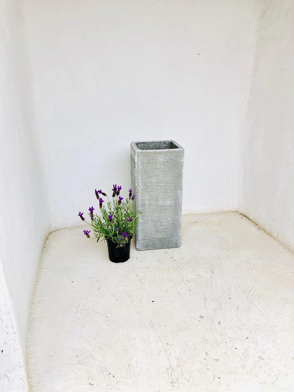 Braided Pillar Pot Large Whitewash Finish - H580mm x W260mm - 19kg