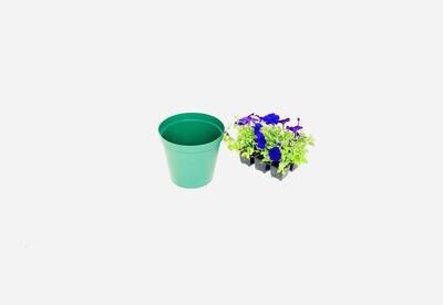 20cm Pot Green Width 20cm x Height 17.5cm