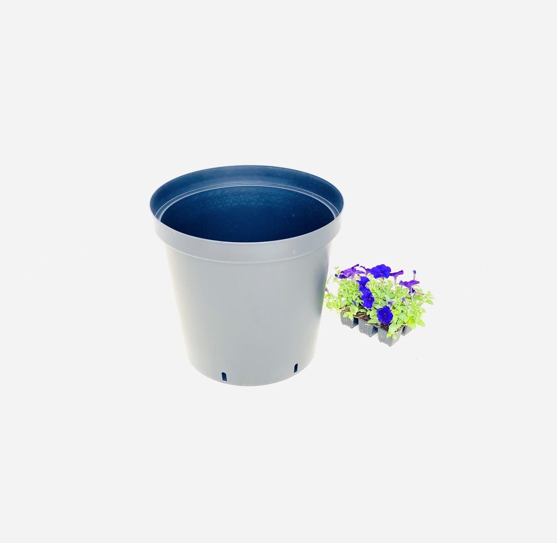 43cm Pot Black Width 43cm x Height 40cm