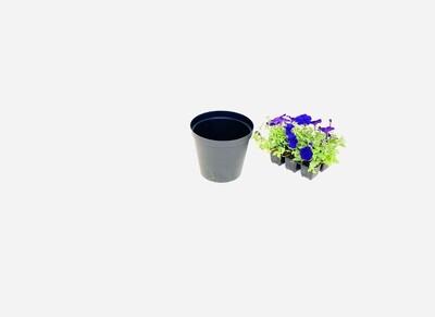 20cm Pot Black 20cm x Height 17.5cm
