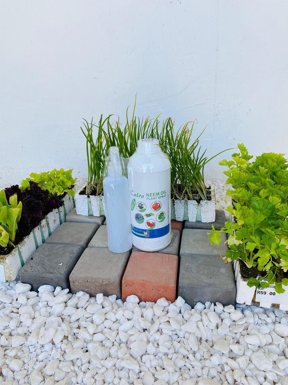 Neem Oil Plant & Crop Spray 1Lt + 250ml Empty Spray Bottle