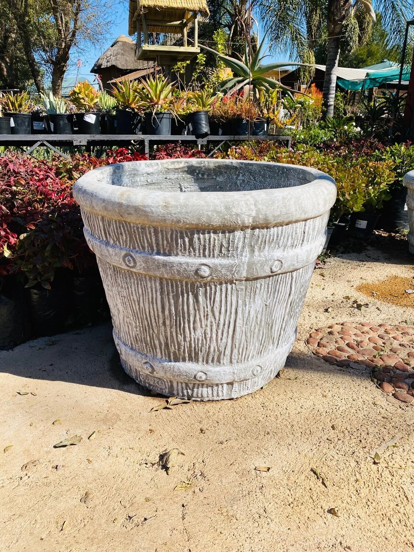 Round Sleeper Pot Large Whitewash Finish - H503mm x W650mm - 47kg