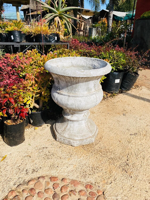 Classic Urn Planter Whitewash Finish - H505mm x W420mm - 29kg