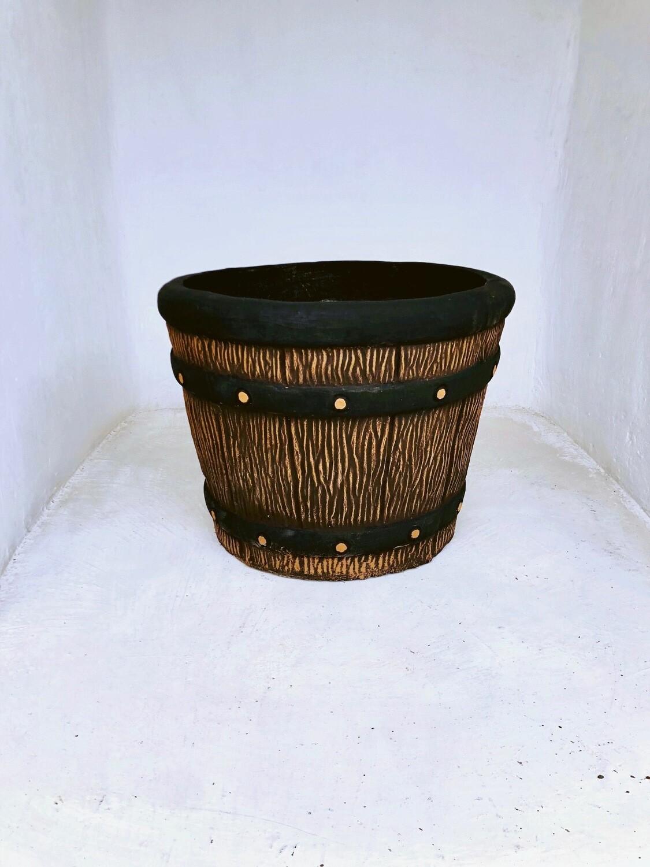 Round Sleeper Pot Large Mecca Brown Finish - H503mm x W650mm - 47kg