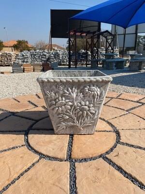 Sunflower Pot Medium Whitewash Finish - H510mm x W530mm - 33kg