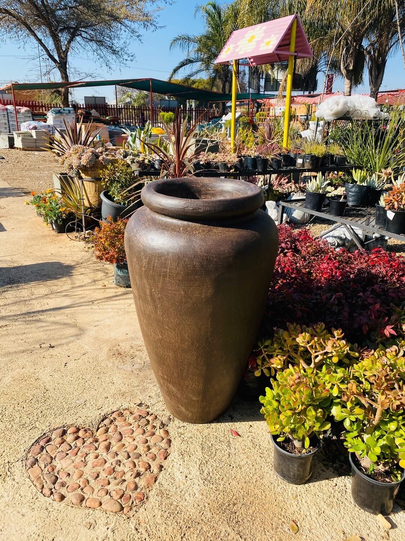 Ansie Vase Mecca Brown Finish - H980mm x W600mm - 45kg