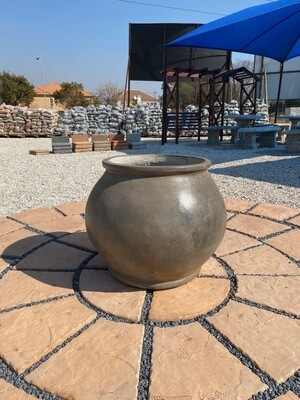 Africana Jeanne Pot Large Weathered Grey Finish - H600mm x W450mm - 35kg