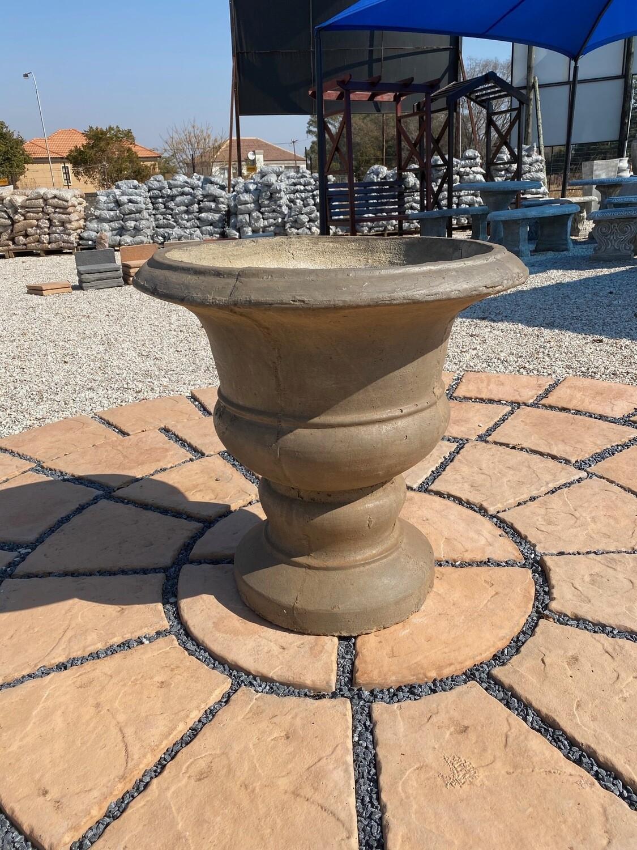 Italian Urn Weathered Brown Finish - H700mm x Top W700mm x Base W400mm - 49Kg