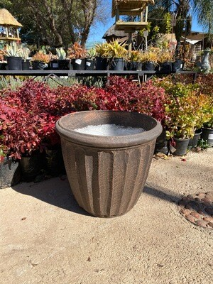 Alfred Pot Large Mecca Brown Finish - H430mm x W470mm - 15Kg