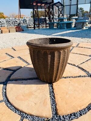 Alfred Pot Medium Mecca Brown Finish - H350mm x W360mm - 9Kg