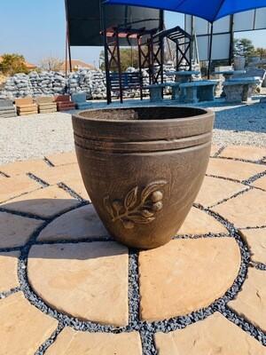 Olive Pot Large Weathered Brown Finish - H470mm - 20kg